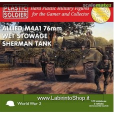 Plastic Soldier Allied M4A1 76mm Wet Stowage Sherman 1/72