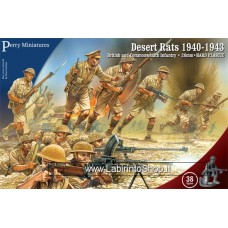 Perry Miniatures: British and Commonwealth Infantry Desert Rats 1940-1943 28mm