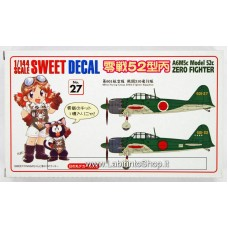 Sweet - Decal No.27 Zero Fighter A6M5 Model 52 1/144 Scale Kit