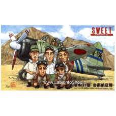 Sweet - Zero Fighter A6M2b Tainan Air Group (Rabaul 1942) 1/144 (Plastic model)