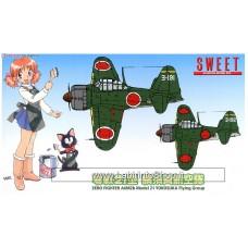 Sweet - Zero Fighter A6M2b Model 21 Yokosuka Flying Group 1/144 (Plastic model)