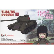 Dragon Platz Girls und Panzer das Finale Medium Tank T-34/85 Pravda High School (Plastic model)