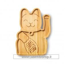 Donkey Products Vassoio in Bamboo Lucky Cat 22x16 cm circa