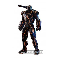 Iron Man 2 Movie Masterpiece Series Diecast Action Figure 1/6 Neon Tech War Machine Hot Toys Excl.