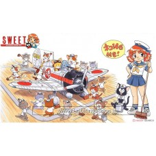 Sweet - Type 96 Carrier Fighter (A5M4) Carrier Fighter Group & Flight Deck Set (w/ Cat 14 Animals) (Miyazawa Limited) (Plastic model) 1/144