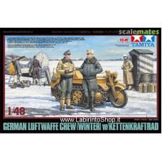 Tamiya 1:48 32412 German Luftwaffe Crew w/ Kettenkraftrad