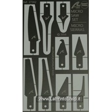 Artesania - Hobby Tools - Photo Etched Steel Micro Saws and Chanocrylate Applicators Set