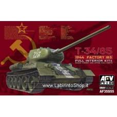 AFV Club AF35S55 1/35 T-34/85 1944 Factory 183 Full Interior Kit & Clear Turret