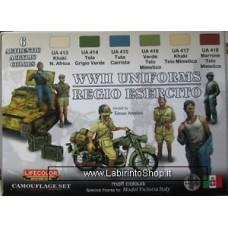 Lifecolor Acrylics LC-CS14 World War 2 Italian Army Uniform paint set