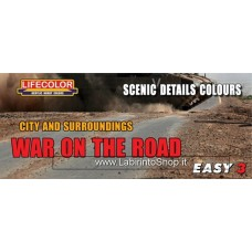 LifeColor Easy 3 Scenic Detail Colours: War on the Road Set (22ml x3)
