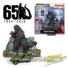 Johnny Lightning Godzilla with Willys MB Jeep Ground Assault 65 Godzilla 1954-2019