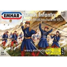 Emhar French Infantry Crimean War 1854-56 Franco Prussian War 1870-71 1/72