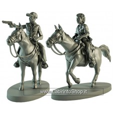 The Walking Dead Walking Dead All Out War Miniature Game Maggie & Glenn on Horseback Expansion