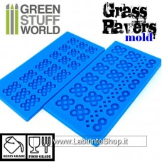 Green Stuff World Silicone Molds - Grass Paver