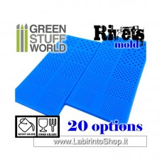 Green Stuff World Silicone Molds - Rivets Molds