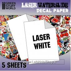 Green Stuff World Waterslide Decals - Laser White