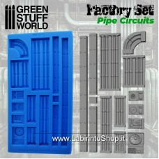 Green Stuff World Silicone Molds - Pipe Circuits