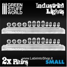 Green Stuff World 24x Resin Industrial Lights - Small