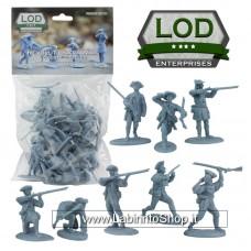 Lod 1/32 Revolutionary War Colonial Minutemen Figure Set 4