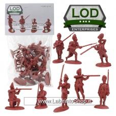 Lod 1/32 Revolutionary War British Grenadiers Figure Set 5