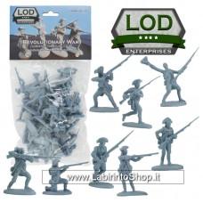 Lod 1/32 Revolutionary War American Regular Army Figure Set 12
