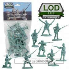 Lod 1/32 Revolutionary War American Light Infantry Figure Set 13