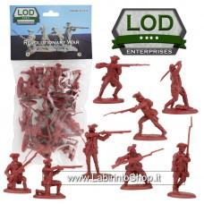 Lod 1/32 Revolutionary War British Regular Army Figure Set 10