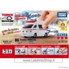 Takara Tomy - Tomica4D 06 Toyota Himedic Ambulance (Tomica)