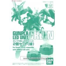 Gunpla LED Unit 2 pieces Set (Green) (Gundam Model Kits)