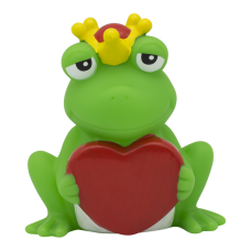 Lilalu - Share Happiness Duck - Frog King with Heart