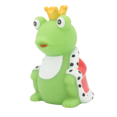 Lilalu - Share Happiness Duck - Frog King with Cape