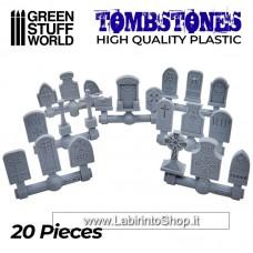 Green Stuff World 20x Gravestones Plastic Set