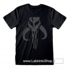 Star Wars The Mandalorian T-Shirt Distressed Crest