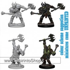 Dungeons & Dragons: Pathfinder Battles Unpainted Minis:  Half Orc Male Barbarian