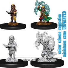Dungeons & Dragons: Pathfinder Battles Unpainted Minis:  Gnome Male Sorcerer