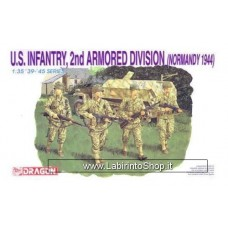 Dragon 6120 U.S. Infantry 2nd Armored Division Normandy 1944 1/35 Plastic Model Kit