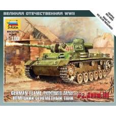 Zvezda -  Pz.Kpfw. III German Flame Thrower Tank - 1/100