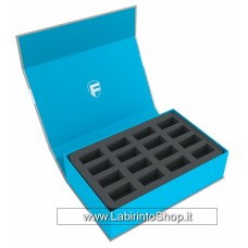 57442 Feldherr Magnetic Box blue for 32 miniatures