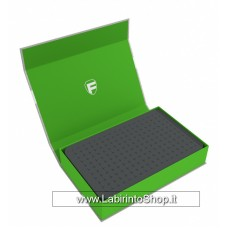 57448 Feldherr Magnetic Box green with 40 mm pick and pluck foam for custom projects