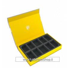 57438 Feldherr Magnetic Box yellow for 10 larger miniatures