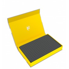 57436 Feldherr Magnetic Box yellow with 25 mm pick and pluck foam for custom projects