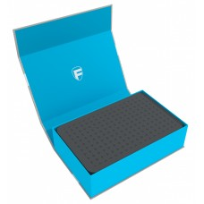 57444 Feldherr Magnetic Box blue with 60 mm pick and pluck foam for custom projects