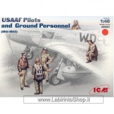 ICM 48083 WWII USAAF Pilots Ground Personnel 1941-1945 1/48