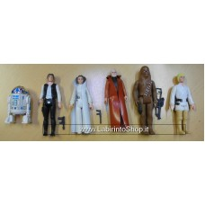 Star Wars Original 3.75 Action Figures Set of 6 With Weapons