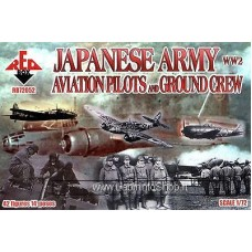 Red Box Japanese Army Aviation Pilots and Ground Crew 1/72