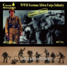 Caesar 7713 WWII German Afrika Korps Infantry Assembly Series 1/72