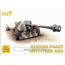 Hat 8150 German Pak 40 Anti-tanl Gun 1/72
