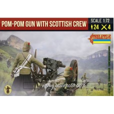 Strelets Pom-pom Gun With Scottish Crew 1/72
