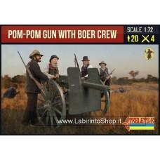 Strelets Pom-pom Gun With Boer Crew 1/72