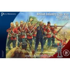 Perry Miniatures British Infantry Zulu War 1877-1881 28mm 1/56